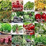 Samen Gemüse Set'indoor-Mix' - perfektes Saatgut (100% Natursamen) für Balkon, Gewächshaus, Wohnung, Terasse, Fensterbank - nahezu 100% Keimrate
